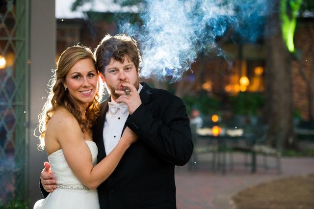 groom smoking